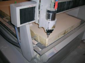 cnc machine is ready for work